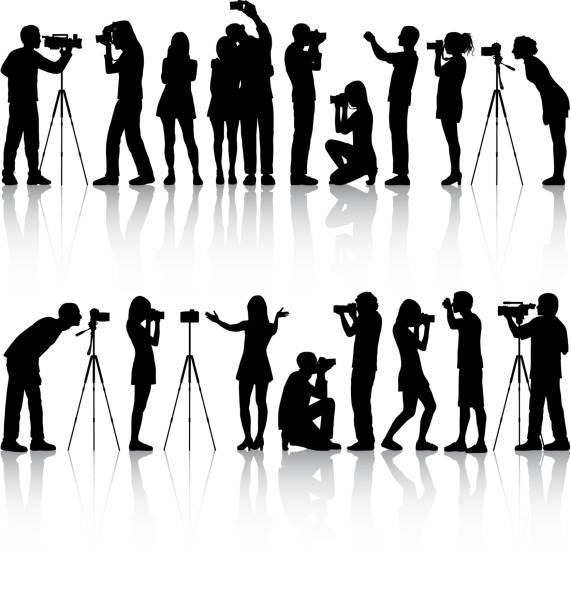 사진 작가 - 사진 촬영 이미지 캡처 stock illustrations