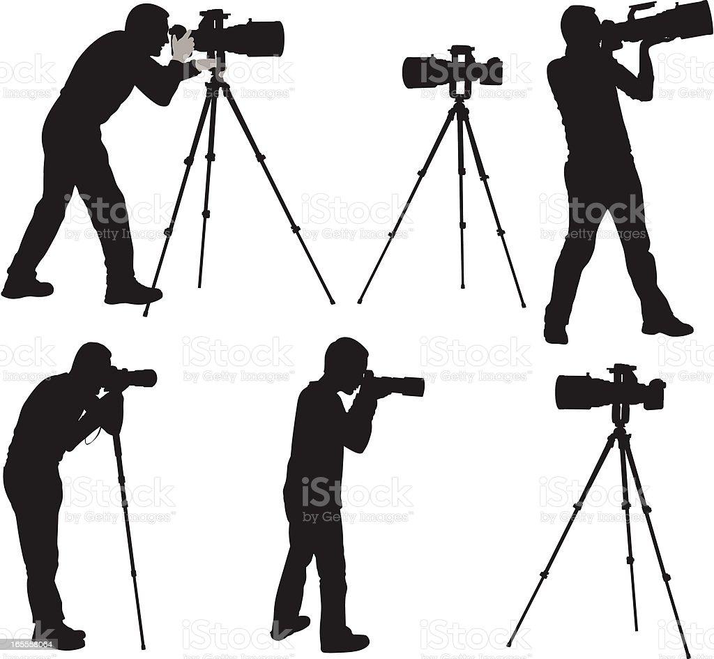 Photographers vector art illustration