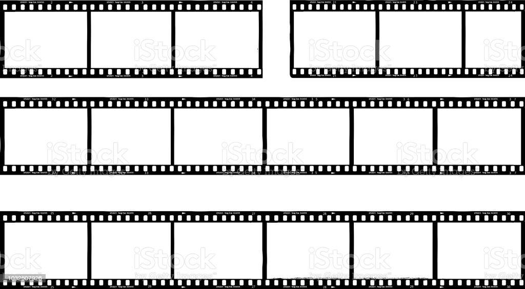 fotografischer Film, Film-Streifen, Bilderrahmen, Freiexemplar Raum, Vektor – Vektorgrafik