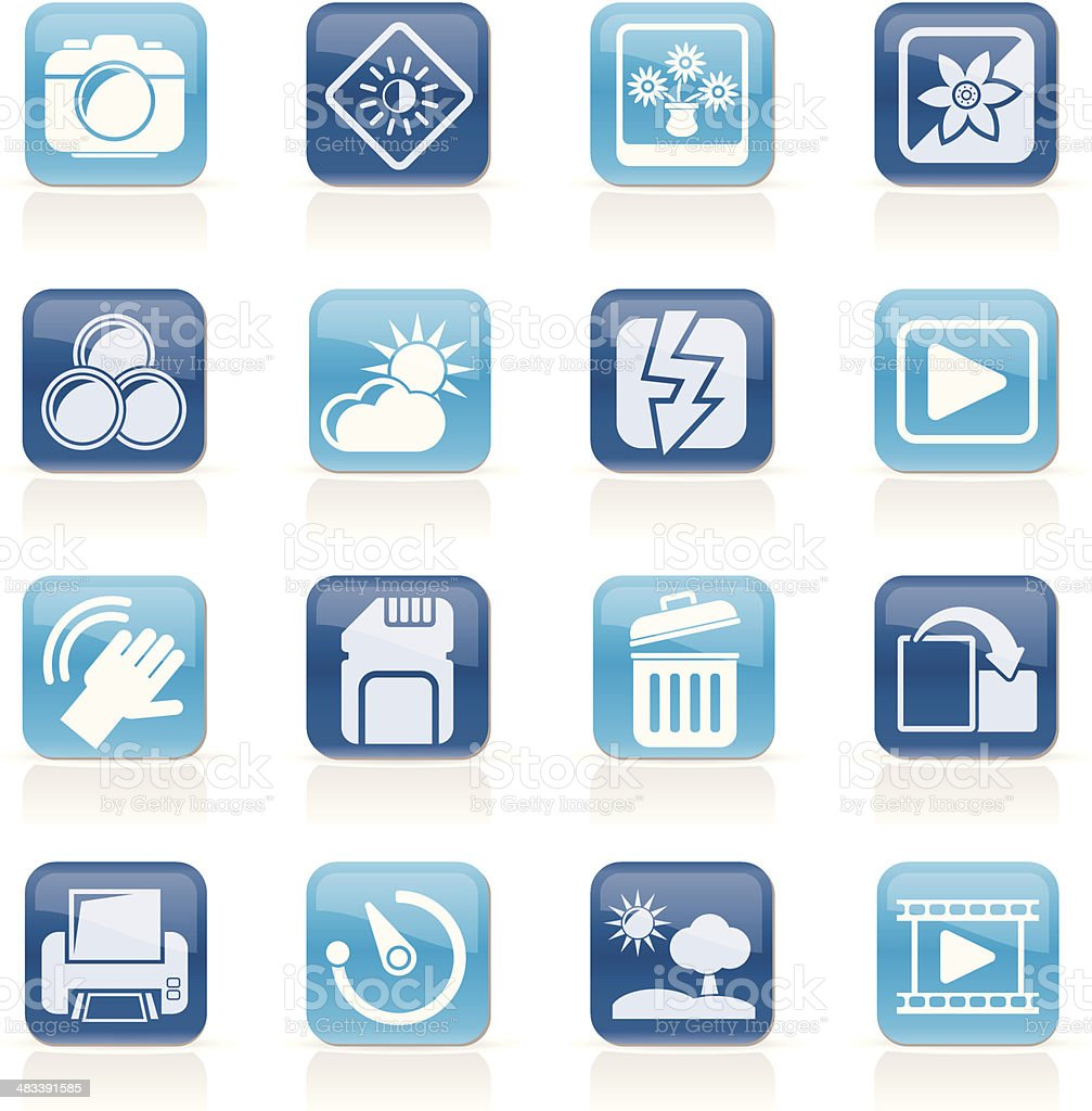 Photography And Camera Function Icons Stock Vector Art & More Images ...