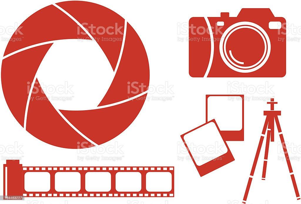 Photography design elements royalty-free stock vector art