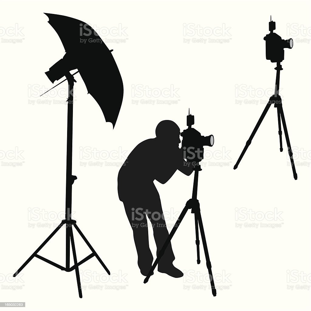 Photography Elements Vector Silhouette vector art illustration