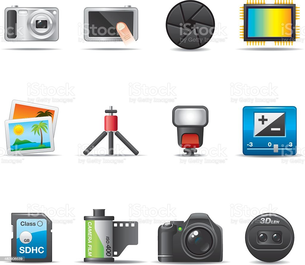 Photography & Equipment Icon Set | Elegant Series vector art illustration
