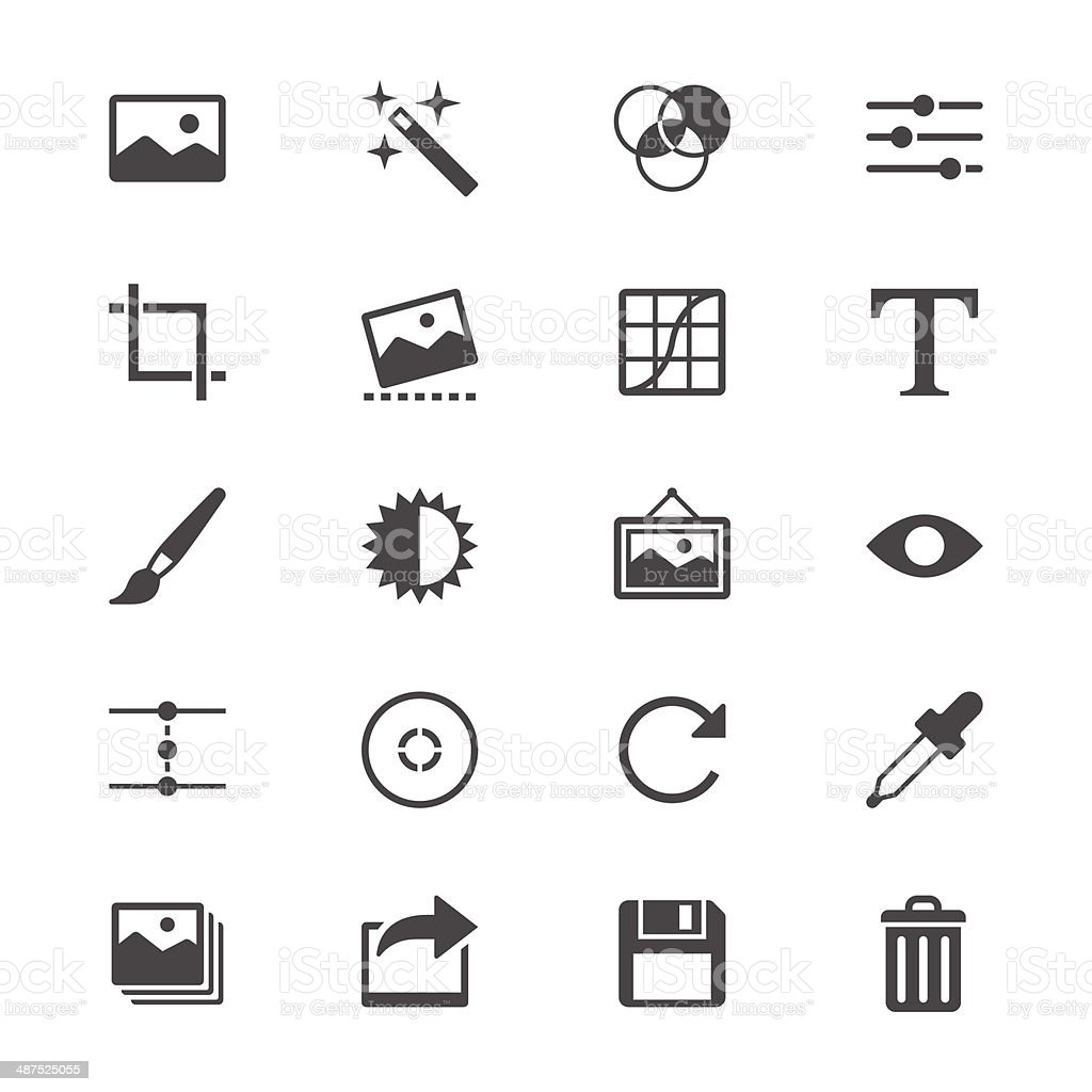 Photography flat icons vector art illustration