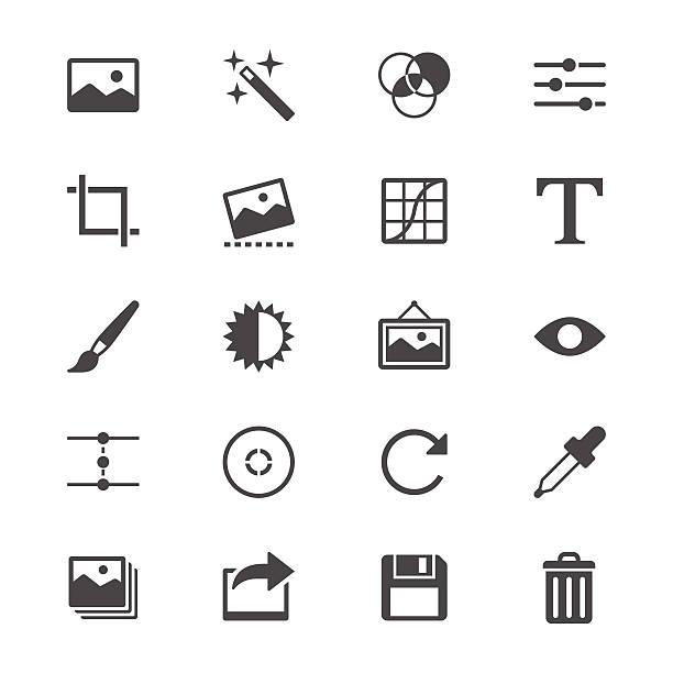 Fotografie flache Symbole – Vektorgrafik