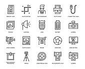 Photography Icon Set - Thin Line Series