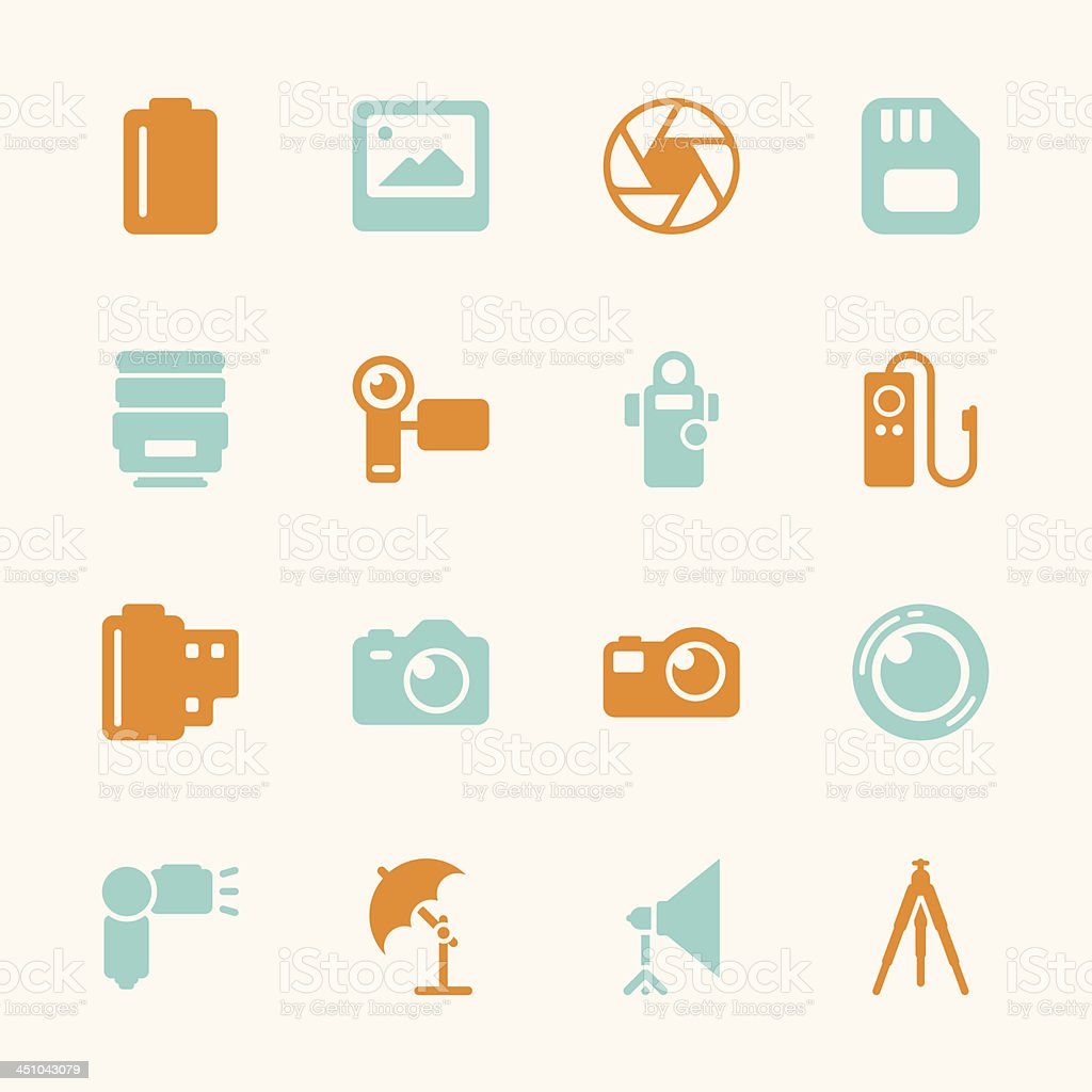 Photography Icons - Color Series | EPS10 royalty-free stock vector art