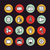 Photography icons - Regular Outline - Circle