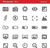Professional, pixel perfect icons depicting various photography concepts.