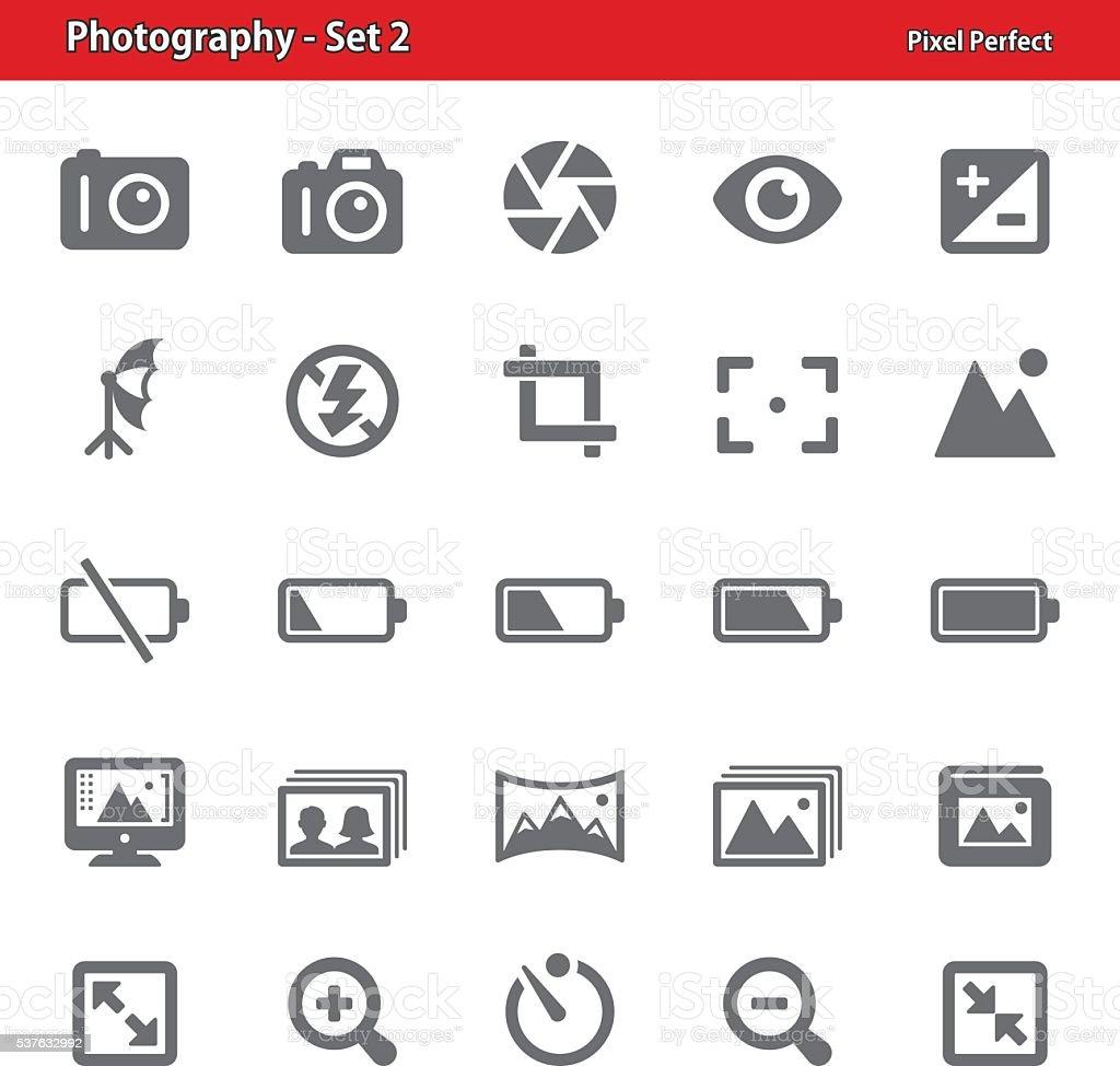 Photography Icons - Set 2 vector art illustration