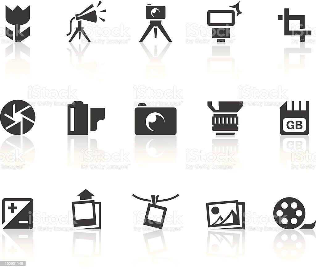 Photography Icons | Simple Black Series royalty-free stock vector art