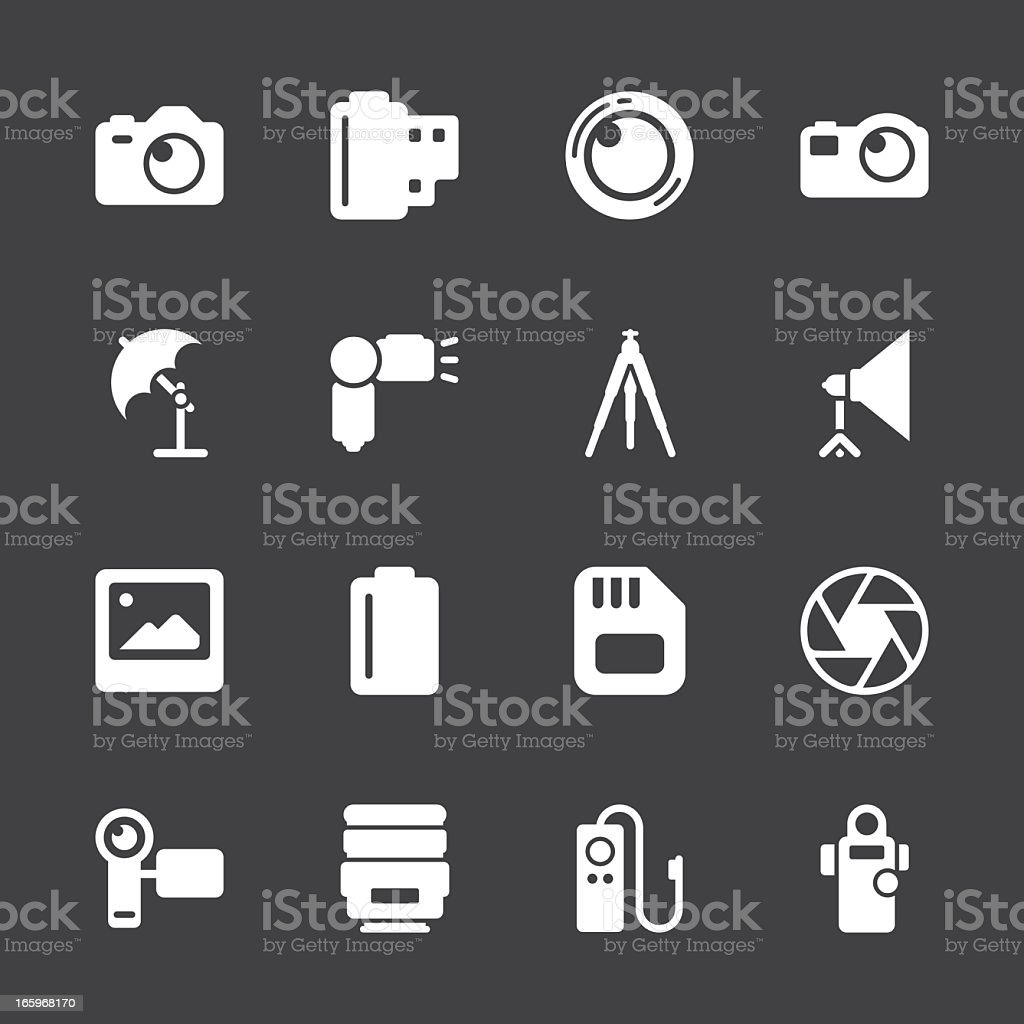 Photography Icons - White Series | EPS10 royalty-free stock vector art