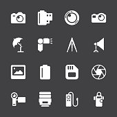 Photography Icons - White Series | EPS10