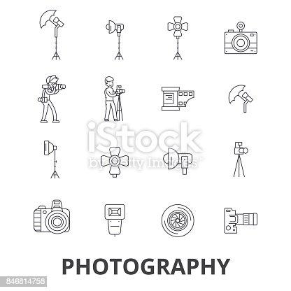 Ilustração de Fotografia Fotógrafo Câmera Estúdio