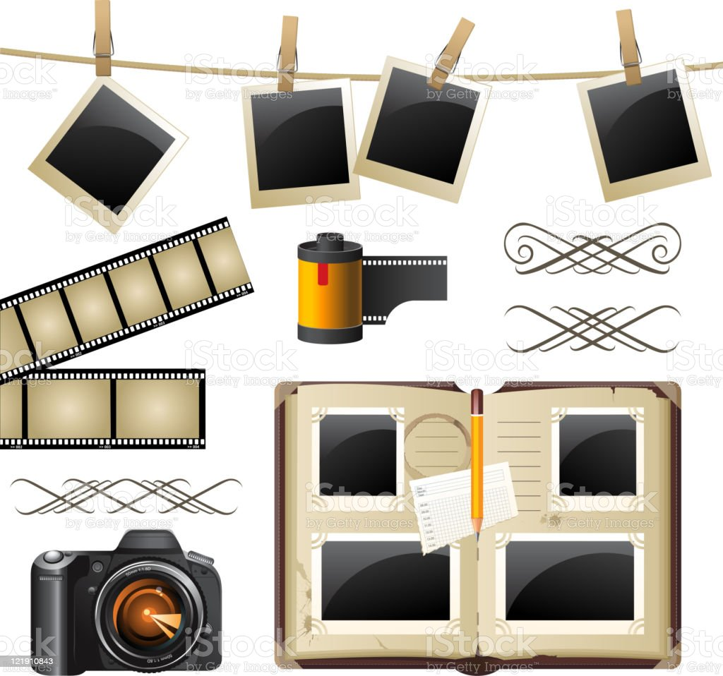 photography set royalty-free stock vector art