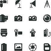 Photography Silhouette Vector File Icons.