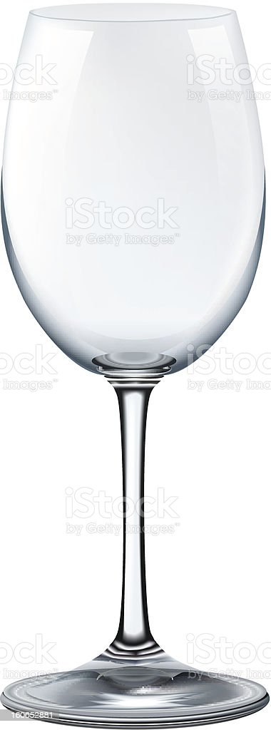 photorealistic empty wine glass on white background royalty-free stock vector art