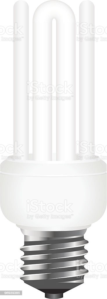 Photo-realistic energy saving lamp royalty-free photorealistic energy saving lamp stock vector art & more images of bright