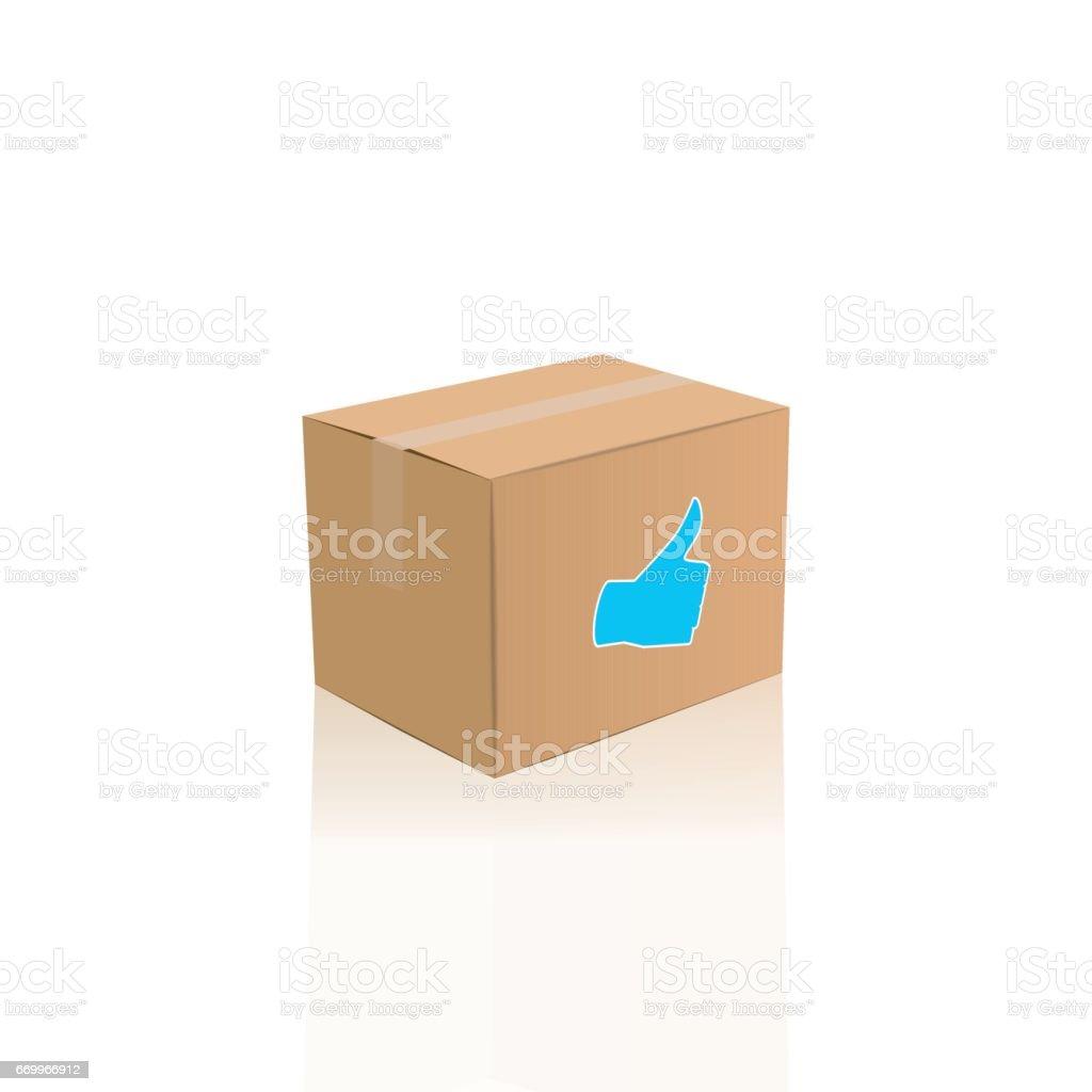 Photorealsitic Iolated ベクトル パッケージ ボックス イラスト 3dの