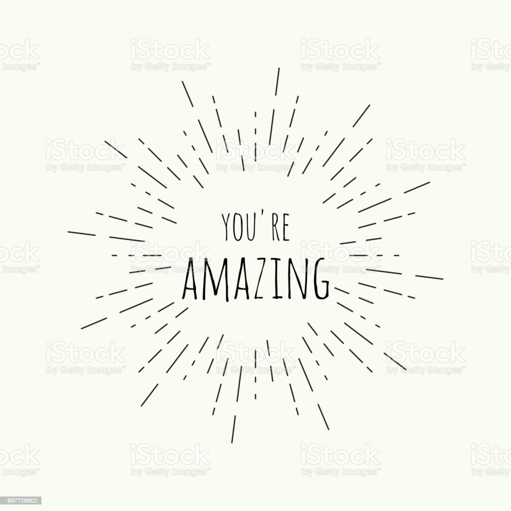 Phrase be amazing. royalty-free phrase be amazing stock illustration - download image now