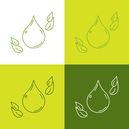 Phthalate free concept icons collection. Ecological behavior, go green and love to nature objects.
