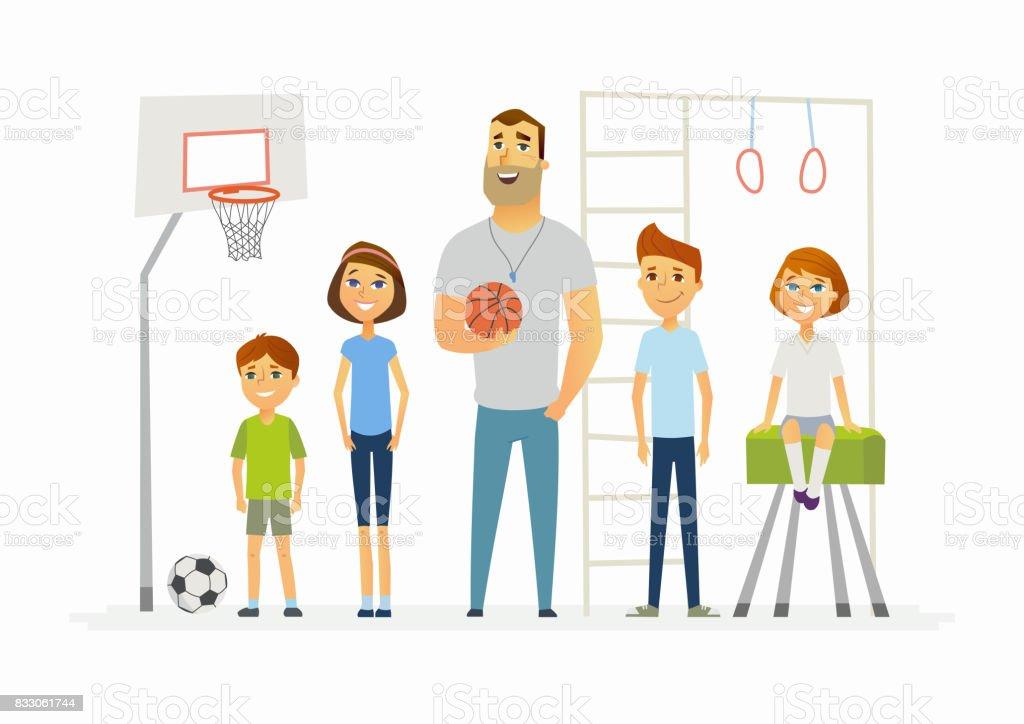 Ilustración De Lección De Educación Física En La Escuela Ilustración