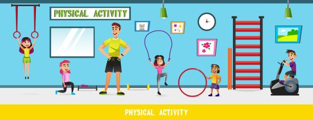 physical education stock illustrations