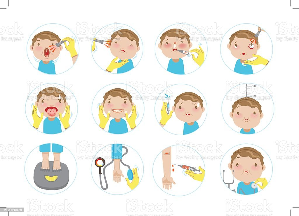 physical examination vector art illustration