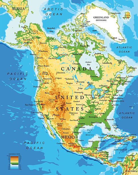 Nordamerika Karte Zum AusfГјllen