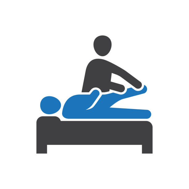Physical therapy Icon Healthcare & Medical - Physical therapy Icon physical therapy stock illustrations