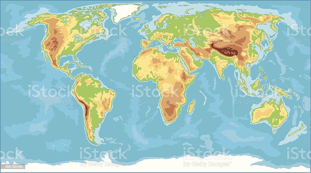 Cartina Geografica Del Mondo Fisica.Mappa Mondo Fisico Immagini Vettoriali Stock E Altre Immagini Di Africa Istock