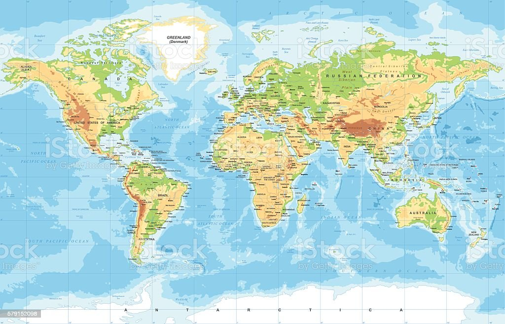 Physical world map arte vectorial de stock y ms imgenes de physical world map physical world map arte vectorial de stock y ms imgenes de alemania gumiabroncs Image collections