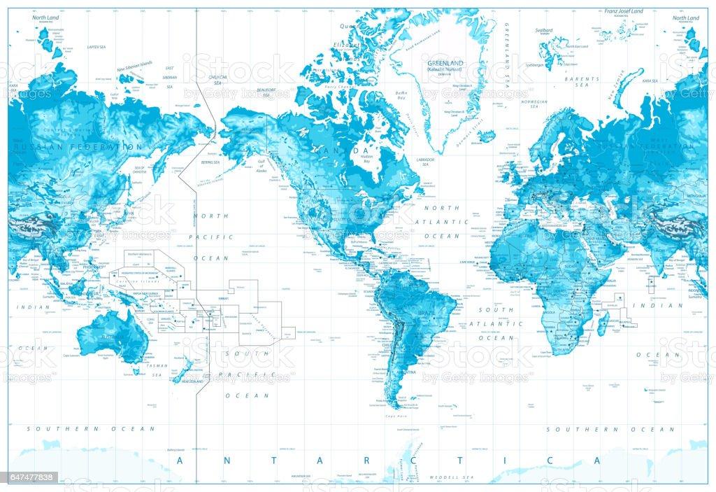 Physical world mapamerica centered stock vector art more images of physical world map america centered royalty free physical world mapamerica centered stock vector art gumiabroncs Gallery