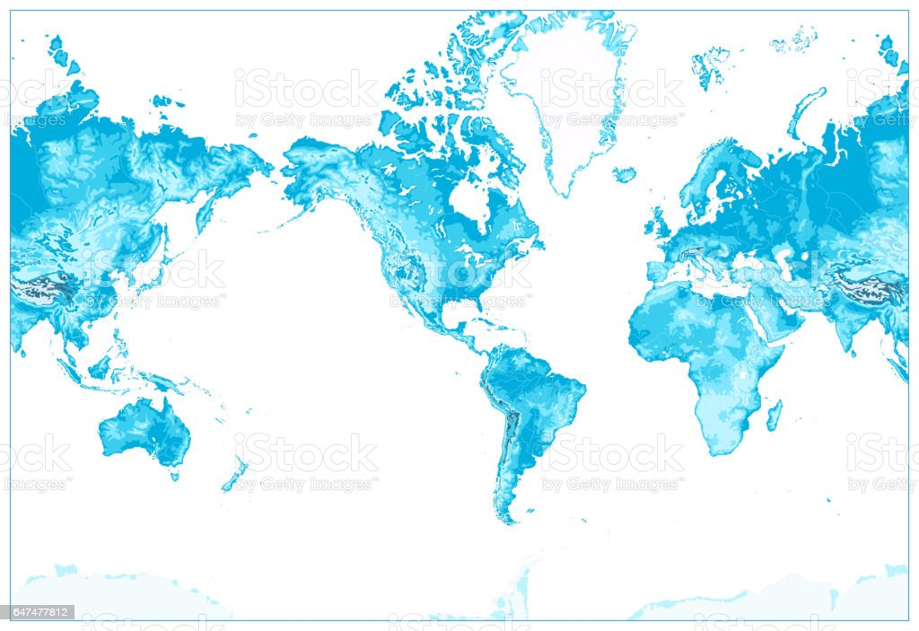 Physical world mapamerica centeredworld map in colors of blue no physical world map america centered world map in colors of blue no text gumiabroncs Choice Image