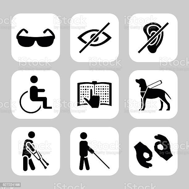 Physically disability related vector icon set vector symbols vector vector id527224166?b=1&k=6&m=527224166&s=612x612&h=fbuycp0tw9a9gh a46pef9jmkr87wn x5c5baxfk7v8=