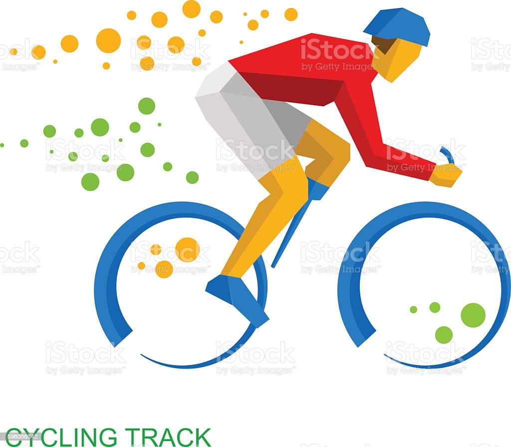 Physically disabled cyclist. Cycling track for people with disabilities royalty-free physically disabled cyclist cycling track for people with disabilities stock vector art & more images of activity