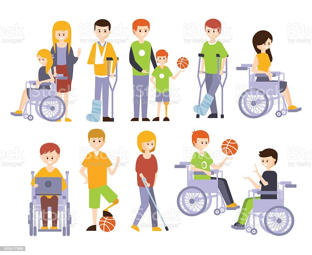 Physically Handicapped People Living Full Happy Life With