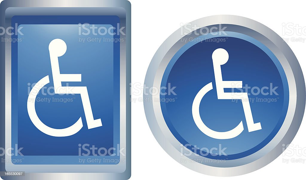 Physically Impaired Button Icon royalty-free stock vector art