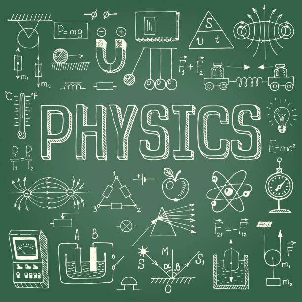 Physics background. vector art illustration