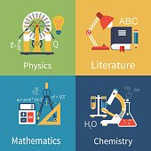 Physics, chemistry, math, literature