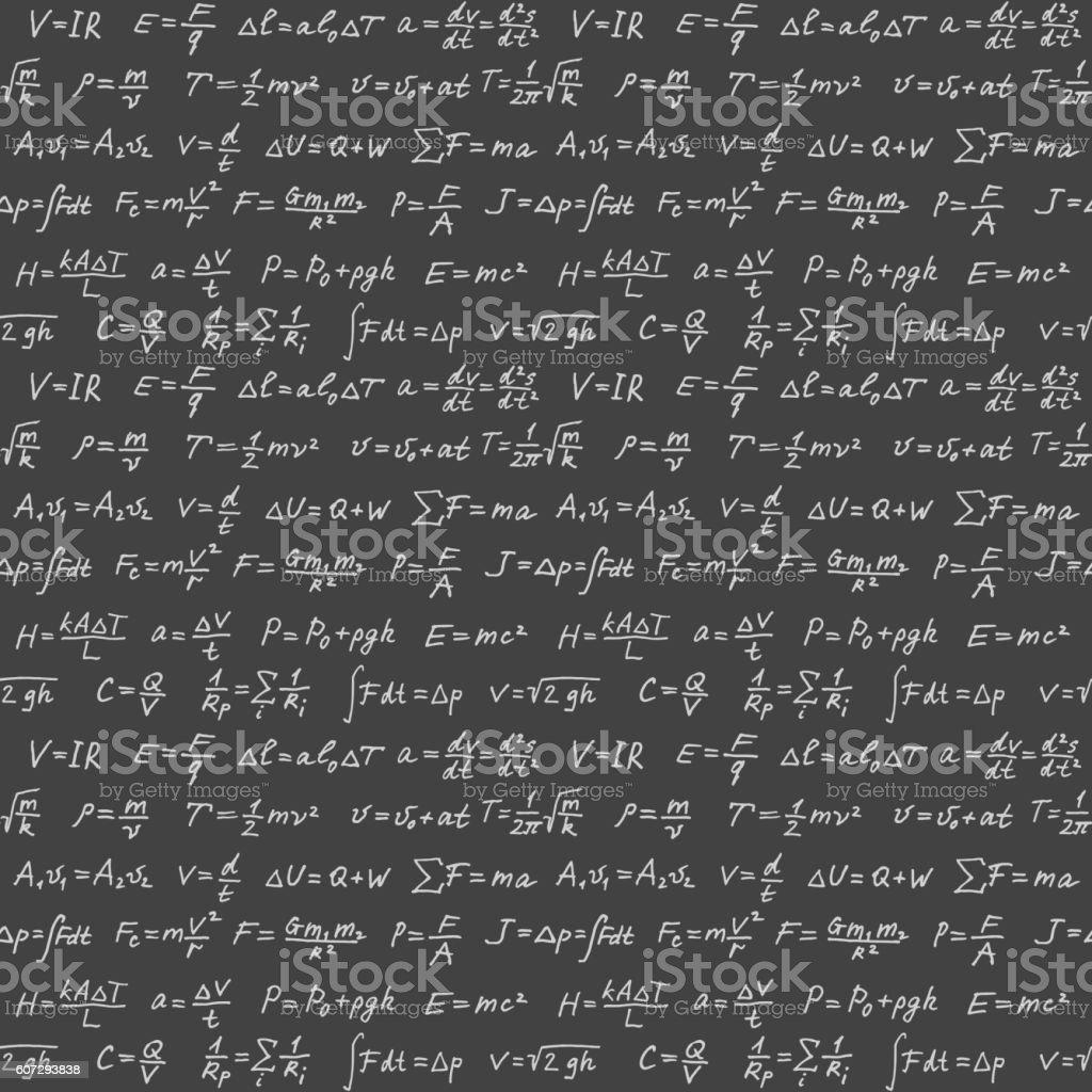 Physics formulas seamless vector background vector art illustration