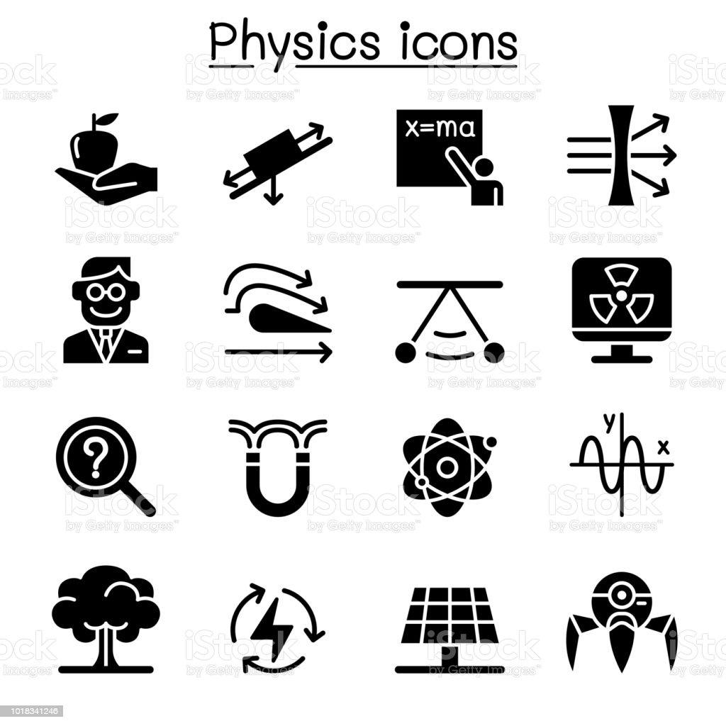 物理学のアイコンを設定 - アイコンセットのベクターアート素材や画像 ...