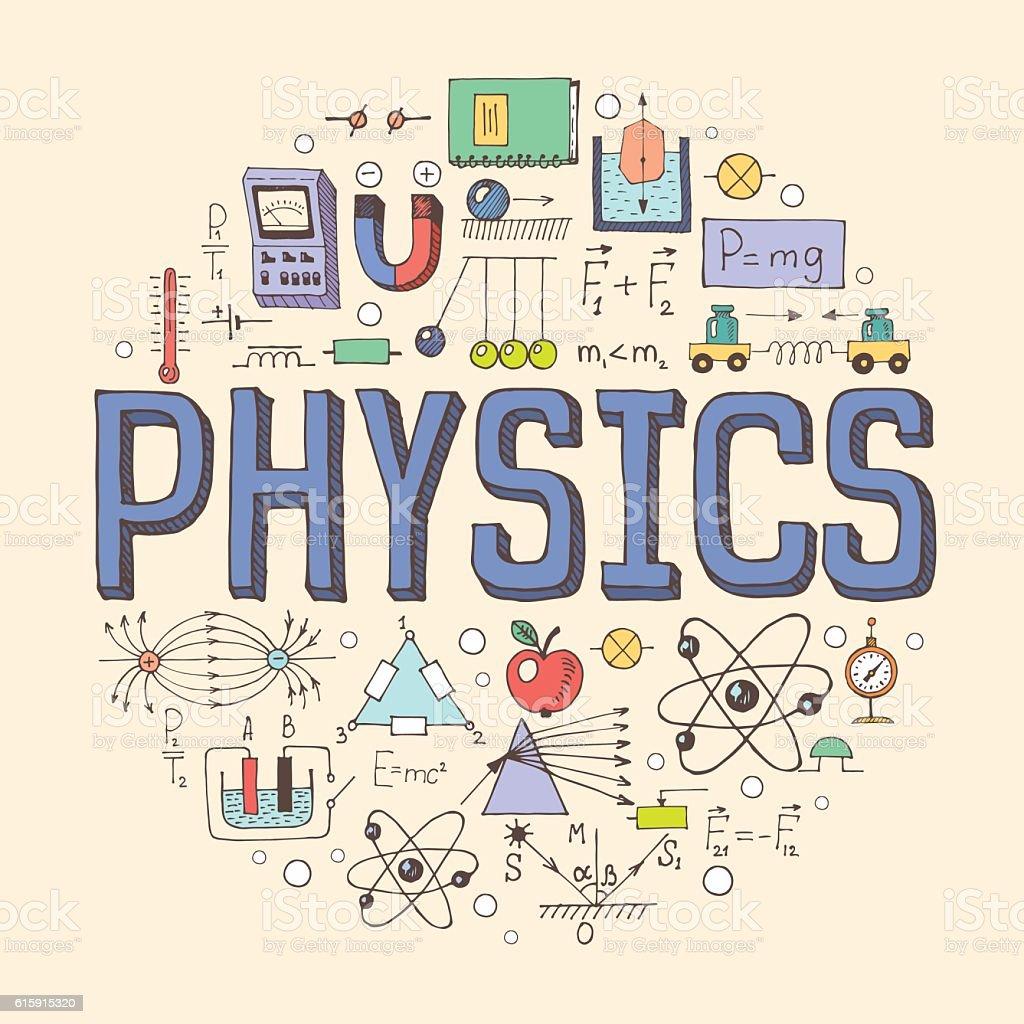 Physics illustration - ilustração de arte em vetor