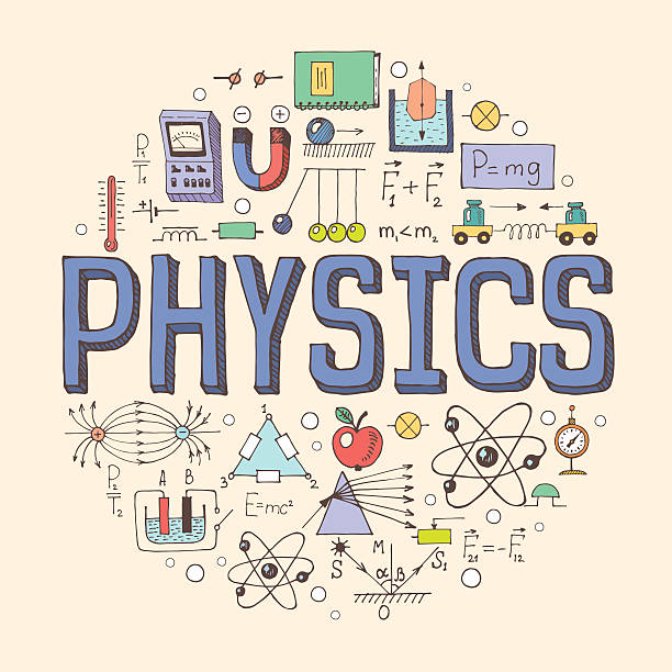Physics illustration vector art illustration