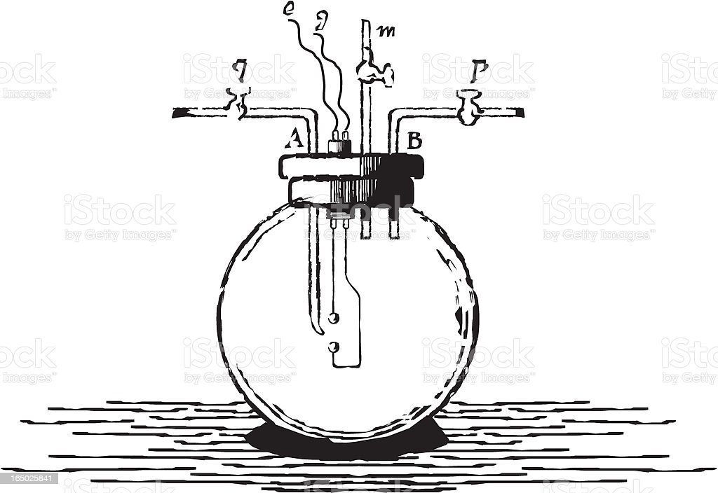 physics item kind of old engraving royalty-free stock vector art