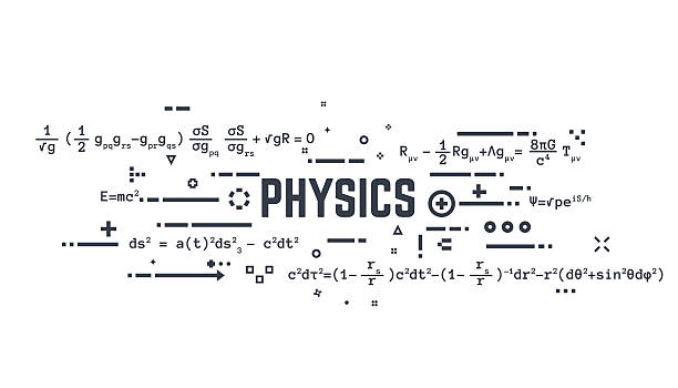 physics line equations - physics stock illustrations, clip art, cartoons, & icons