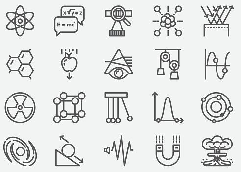 Physics Line Icons