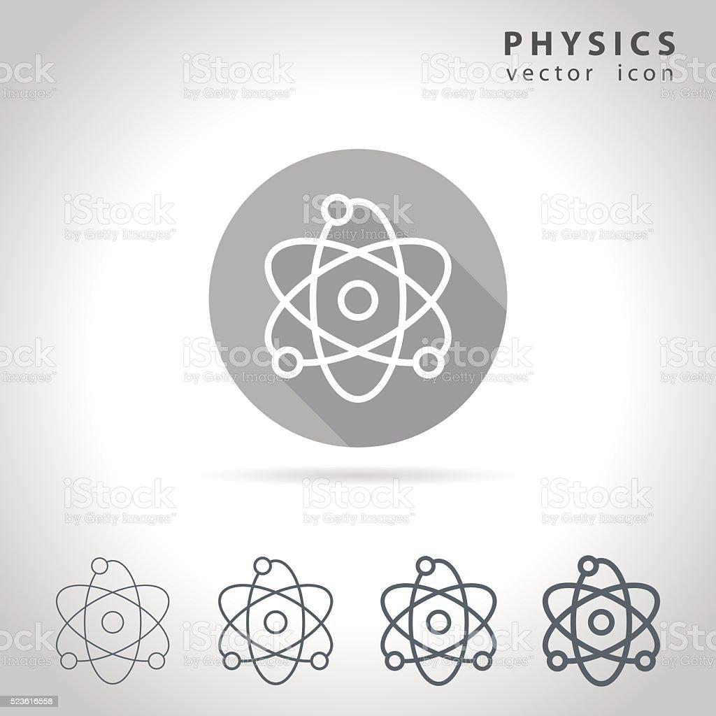 Physics outline icon vector art illustration