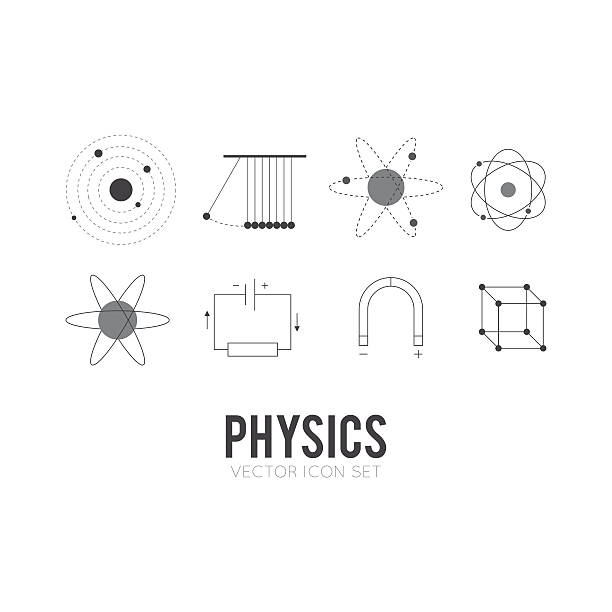 Physics vector art illustration