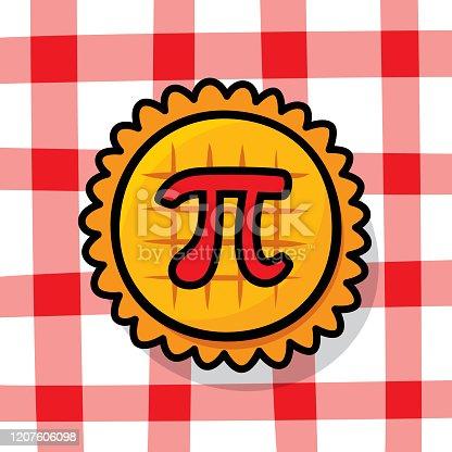 istock Pi Pie Doodle 1207606098